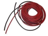 cable souple 0,8mm²-2x1m silicone rouge+Noir (18AWG)